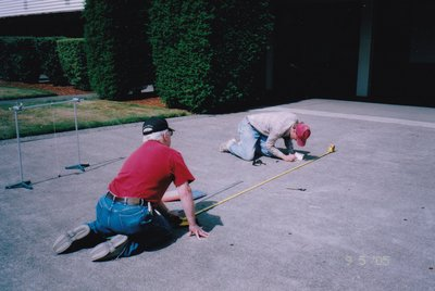 2005 - laying out the sundial